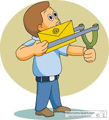 Email clipart sending email via slingshot - ClipartAndScrap